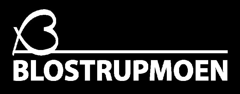 logo blostrupmoen hvit